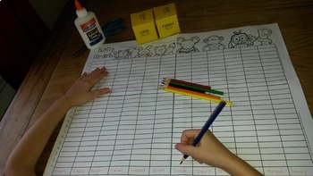 Roll and Color with Word Cubes