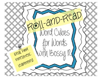 Word Cubes: Roll and Read Words with Bossy R (r-controlled syllables)