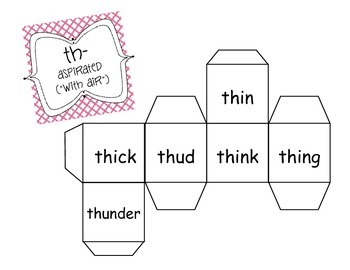 Word Cubes: Roll and Read Words with Consonant Digraphs (H brothers)