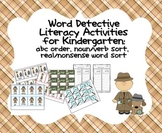Word Detective Activites:  ABC Order, Real/Nonsense Word S