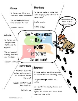 Word Detective Anchor Chart
