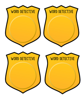 Word Detective Badges