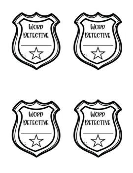 Word Detective Badges