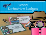 Word Detective Badges for Reading Workshop