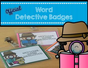 Word Detective Badges for Reading Workshop
