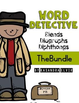 Word Detective Blends, Digraphs, Diphthongs Bundle