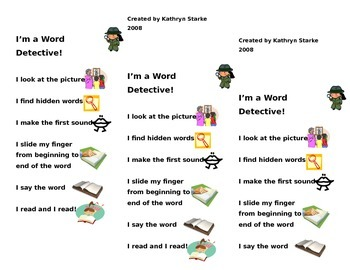 Word Detective Bookmarks
