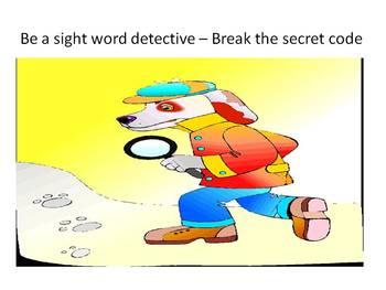 Word Detective - Break the secret code Sight Word Game