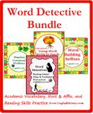 Word Detective Bundle+: Reading, Affix, & Context Clues Practice