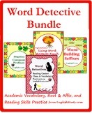 Word Detective Bundle+: Reading, Affix, & Context Clues Practice