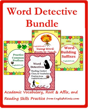 Word Detective Bundle: Vocabulary, Reading, Affix, & Conte