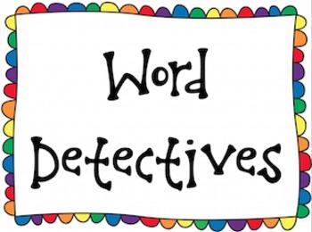 Word Detective Classroom Display