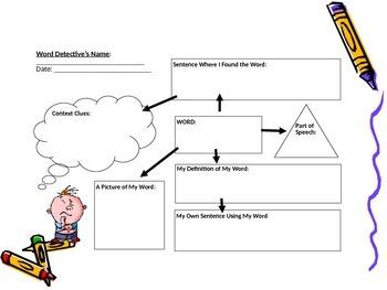 Word Detective Context Clues Interactive Activity