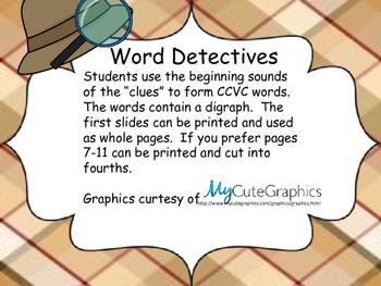 Word Detective Digraphs (CCVC)