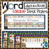 Word Detective Editable Desk Name Plates with 61 Phonemes