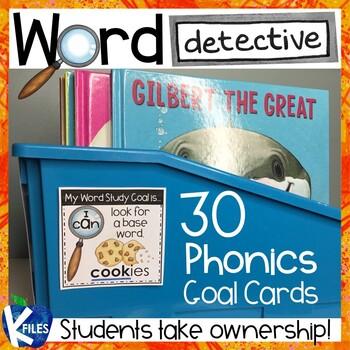 Word Detective Phonics Goal Cards