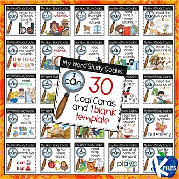 word detective phonics goal cards by the k files tpt