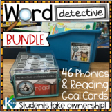 Word Detective Phonics and Reading Strategy Goal Cards  BUNDLE