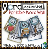Word Detective Portable Word Wall with Fry Sight Words and