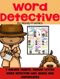 Word Detective Poster Set for Reading Tricky Words