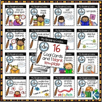 word detective reading strategy goal cards by the k files tpt