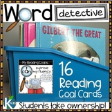 Word Detective Reading Strategy Goal Cards