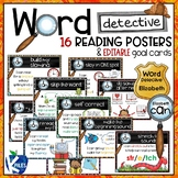 Word Detective Reading Strategy Posters and Goal Cards