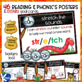 Word Detective Reading and Phonics Strategy Posters and Goal Cards  BUNDLE