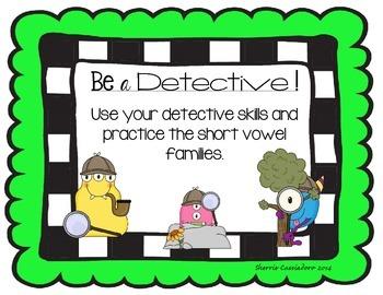 Word Detective Short Vowel Bundle Pack