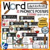 Word Detective Strategies Posters for Phonics with Persona