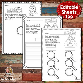 Word Detective~ Student Printables for your Classroom Sleuths