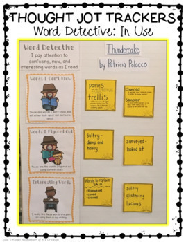 Word Detective Thought Jot Tracker
