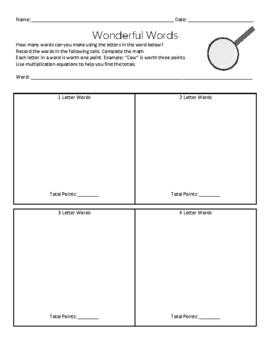 Word Detective Game: Word Work