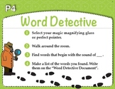 Word Detective with Magnifying Glasses