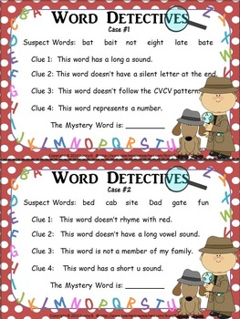 Word Detectives: Spelling/Phonics