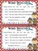 Word Detectives: Spelling/Phonics