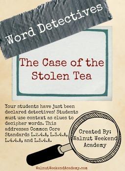 Word Detectives - Case of the Stolen Tea