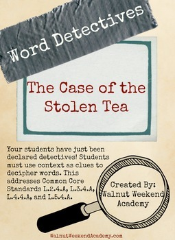 Word Detectives - Case of the Stolen Tea