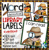 Word Detectives Classroom Library Labels