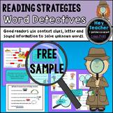 Reading Strategies-Mini Lessons: Word Detectives FREEBIE!