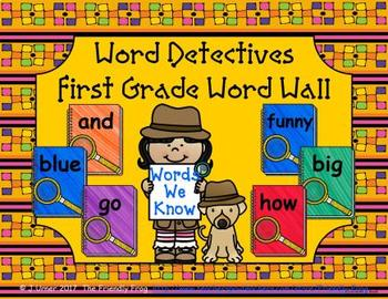 Word Detectives First Grade Word Wall