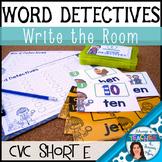 Word Detectives Literacy Center Activity - short E