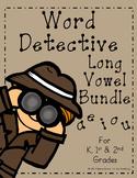 #BundleBonanza Word Detective ~ Long Vowel Activities Bundle