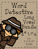 Word Detective ~ Long Vowel Activities Bundle