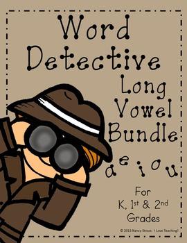 Word Detective ~ Long Vowel Activities Bundle