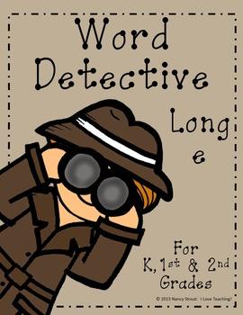Word Detective ~ Long E Vowel Activities