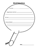 Word Detectives Magnifying Glass