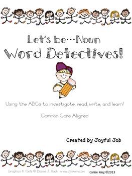 Word Detectives - Nouns! Freebie