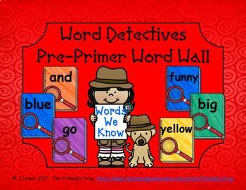 Word Detectives Pre-Primer Word Wall