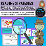 Reading Strategies-Mini Lessons: Word Detectives [Guess the Covered Word]